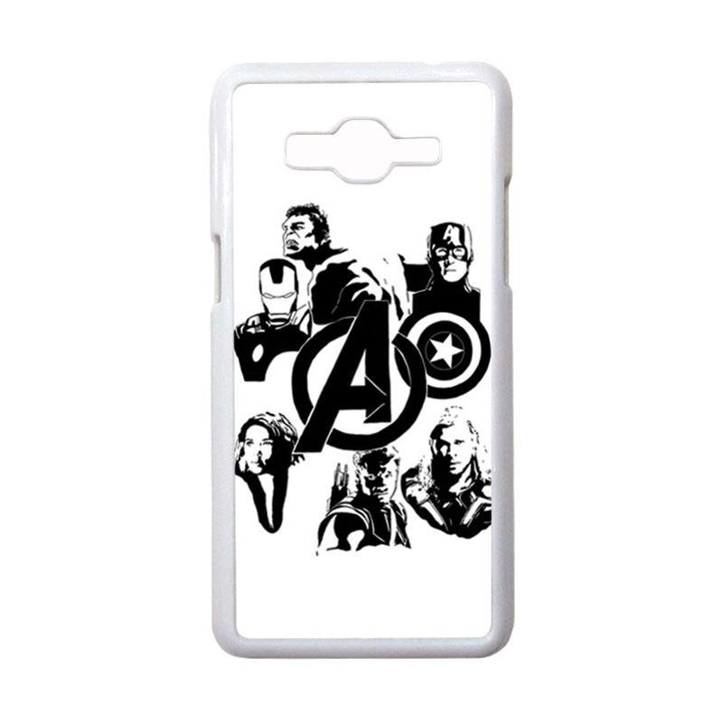 HEAVENCASE Motif Superhero Avengers 06 Hardcase Casing for Samsung Galaxy Grand Prime - Putih