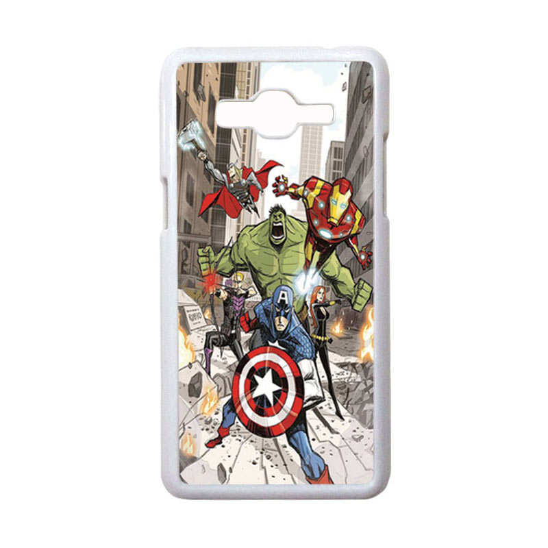 HEAVENCASE Motif Superhero Avengers 08 Hardcase Casing for Samsung Galaxy Grand Prime - Putih