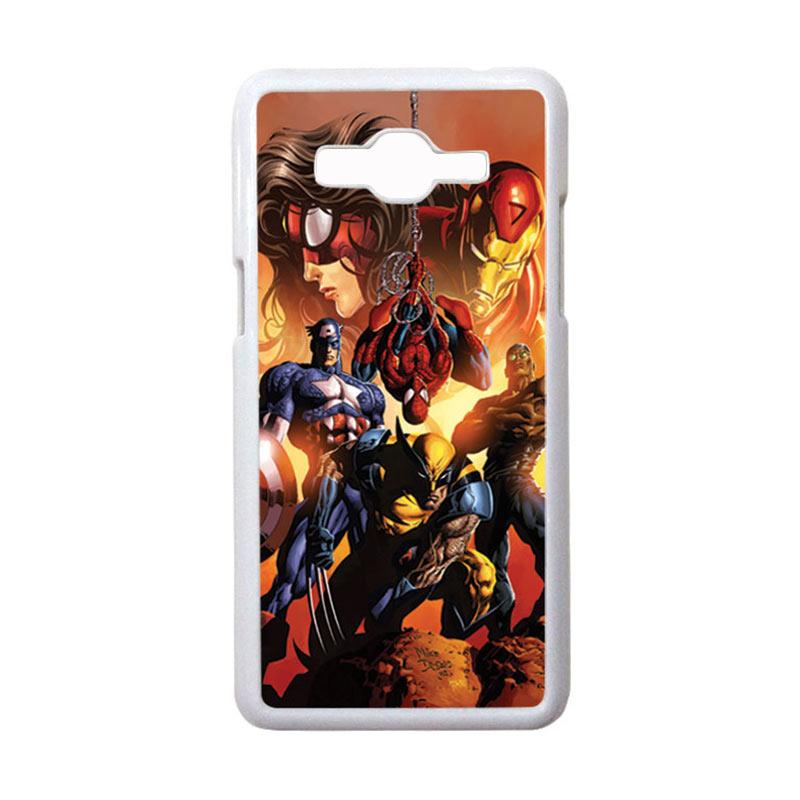 HEAVENCASE Motif Superhero Avengers 09 Hardcase Casing for Samsung Galaxy Grand Prime - Putih