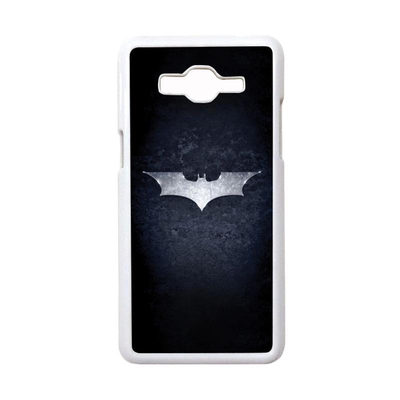 HEAVENCASE Motif Superhero Batman 01 Casing for Samsung Galaxy Grand Prime - Putih