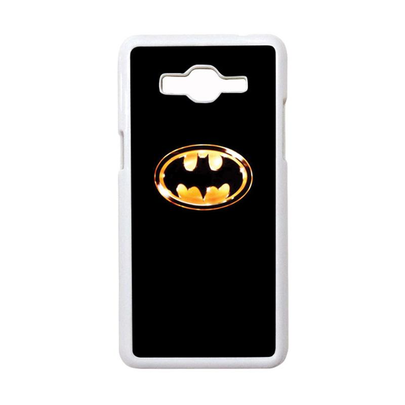 HEAVENCASE Motif Superhero Batman 02 Casing for Samsung Galaxy Grand Prime - Putih