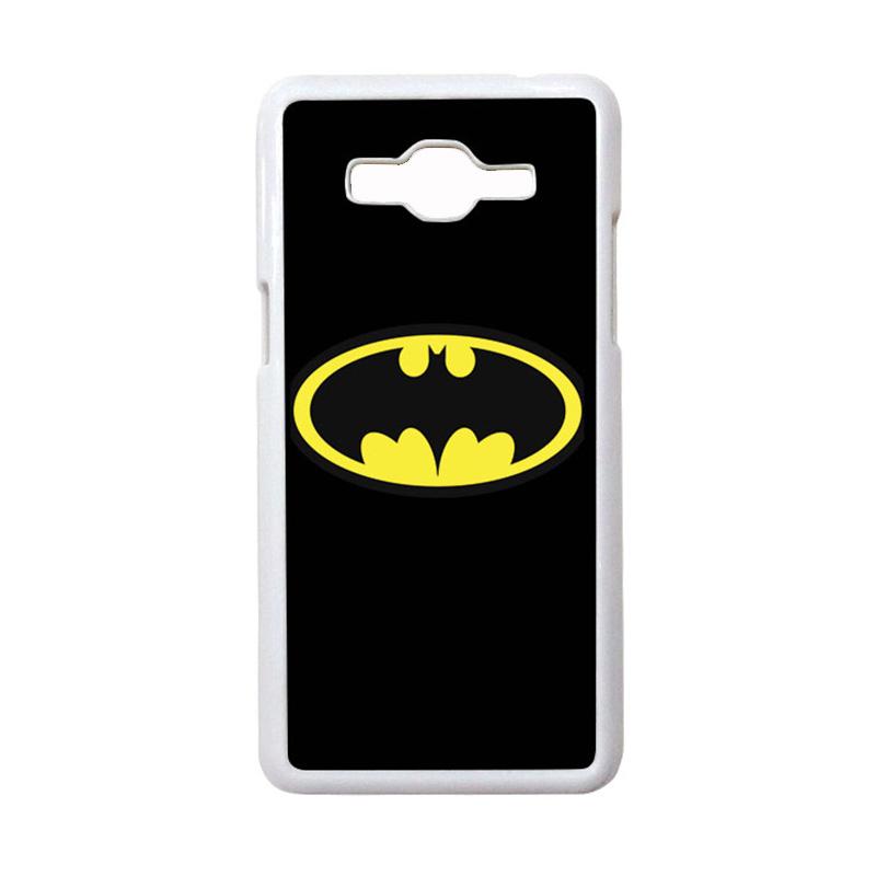 HEAVENCASE Motif Superhero Batman 05 Casing for Samsung Galaxy Grand Prime - Putih