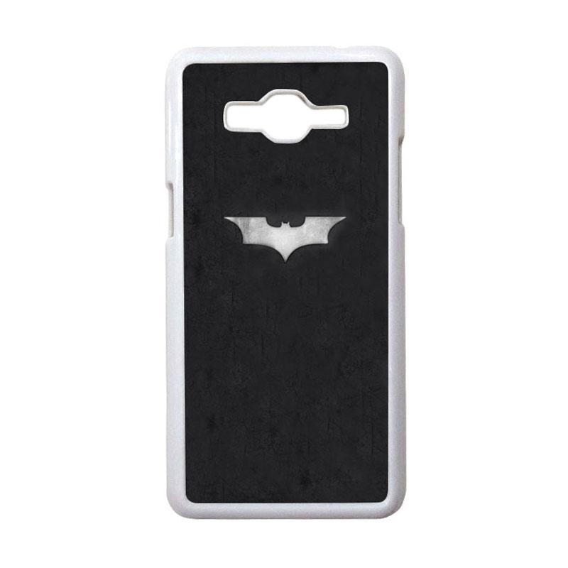 HEAVENCASE Motif Superhero Batman 06 Casing for Samsung Galaxy Grand Prime - Putih