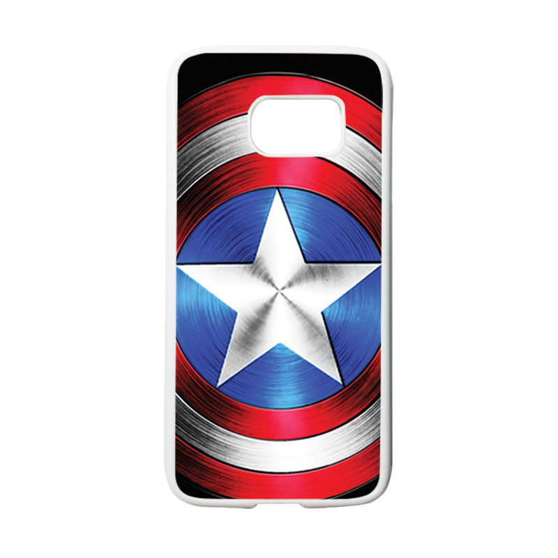 HEAVENCASE Motif Superhero Captain America 02 Casing for Samsung Galaxy S7 - Putih