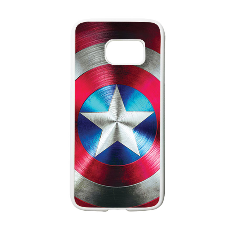 HEAVENCASE Motif Superhero Captain America 03 Casing for Samsung Galaxy S7 - Putih