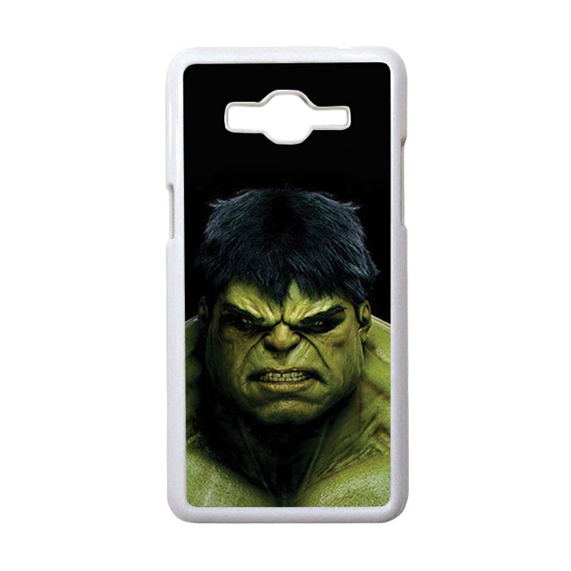 HEAVENCASE Motif Superhero Hulk 01 Casing for Samsung Galaxy Grand Prime - Putih
