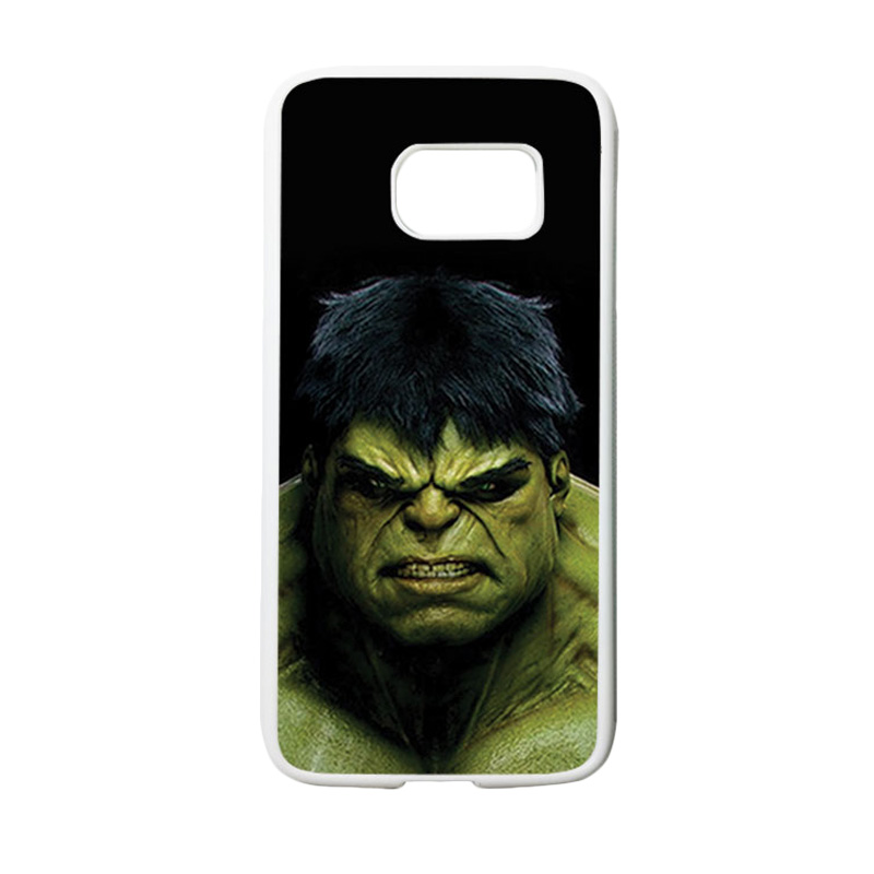 HEAVENCASE Motif Superhero Hulk 01 Casing for Samsung Galaxy S7 - Putih