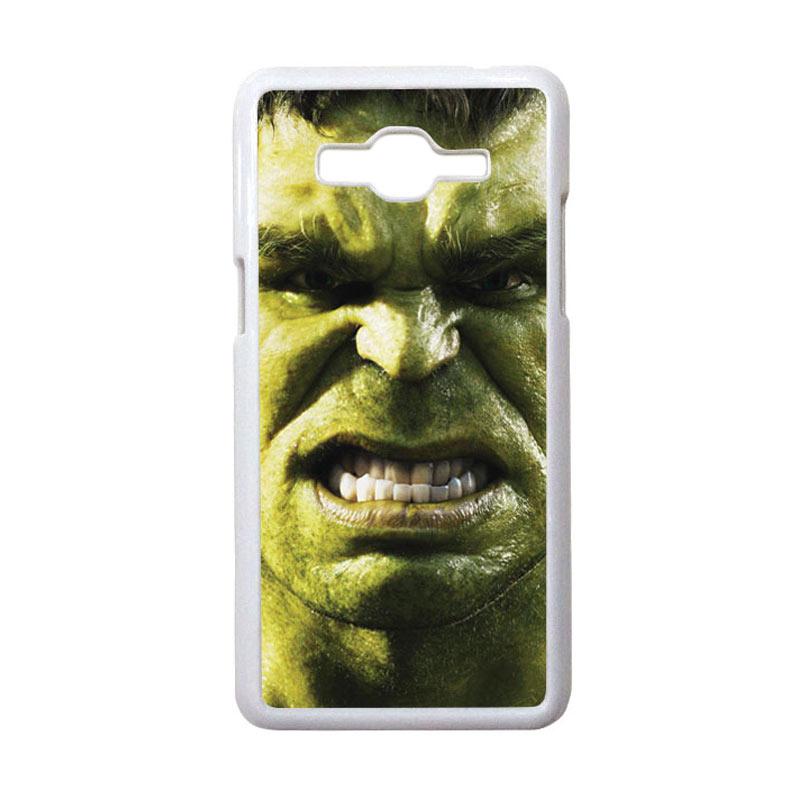 HEAVENCASE Motif Superhero Hulk 02 Casing for Samsung Galaxy Grand Prime - Putih