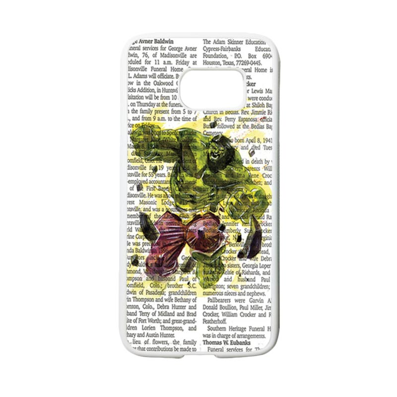 HEAVENCASE Motif Superhero Hulk 04 Casing for Samsung Galaxy S7 - Putih