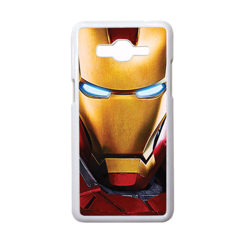 HEAVENCASE Motif Superhero Ironman 02 Casing for Samsung Galaxy Grand Prime - Putih