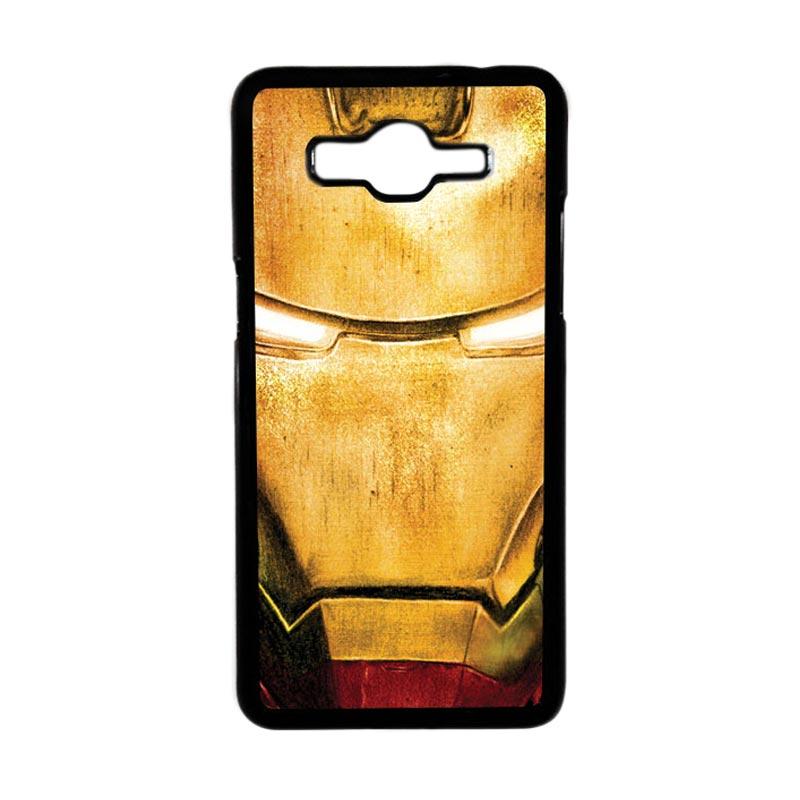 Heavencase Motif Superhero Ironman 02 Hardcase Casing for Samsung Galaxy Grand Prime - Hitam