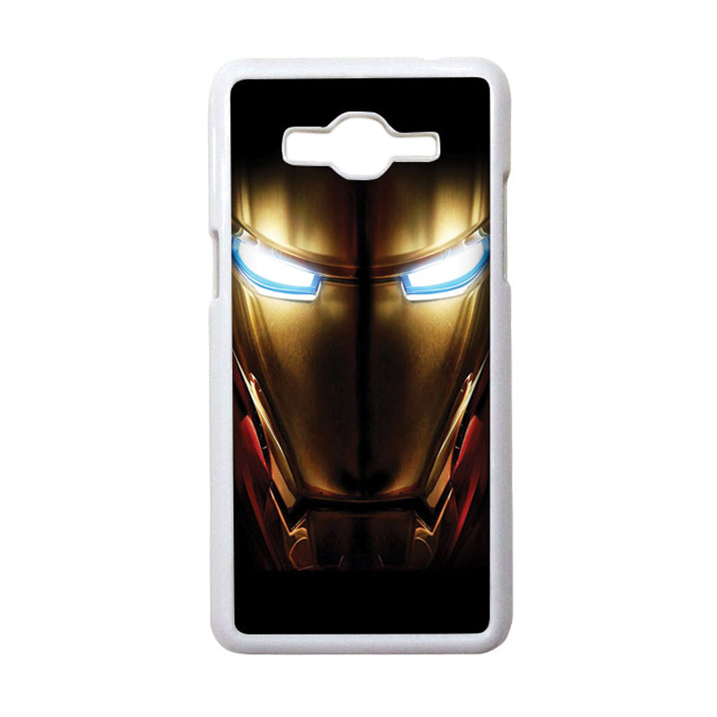 HEAVENCASE Motif Superhero Ironman 04 Casing for Samsung Galaxy Grand Prime - Putih