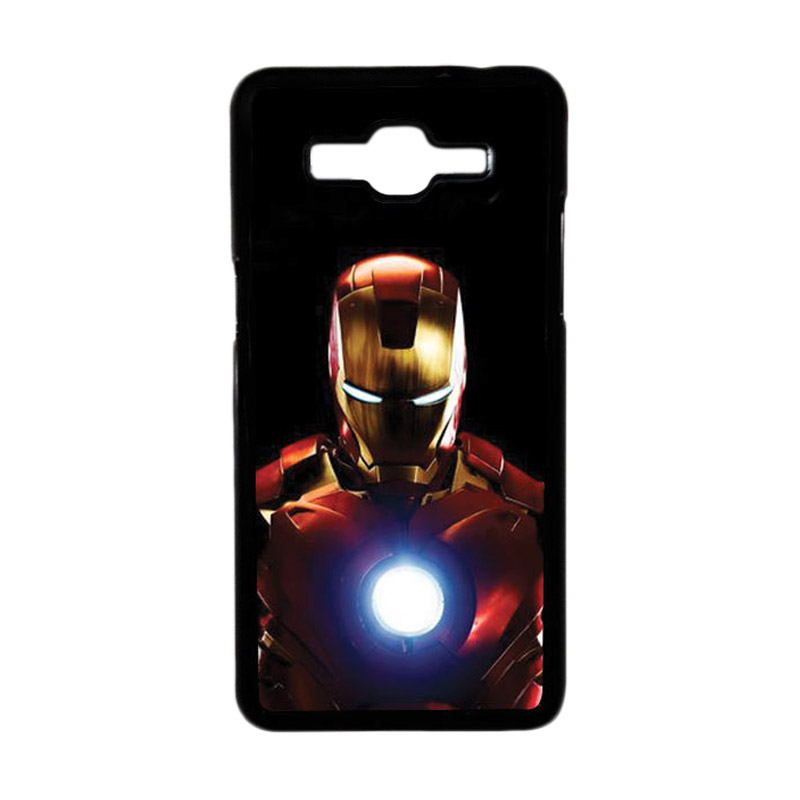 Heavencase Motif Superhero Ironman 05 Hardcase Casing for Samsung Galaxy Grand Prime - Hitam