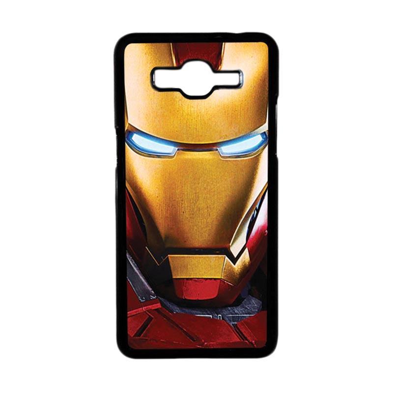 Heavencase Motif Superhero Ironman 06 Hardcase Casing for Samsung Galaxy Grand Prime - Hitam