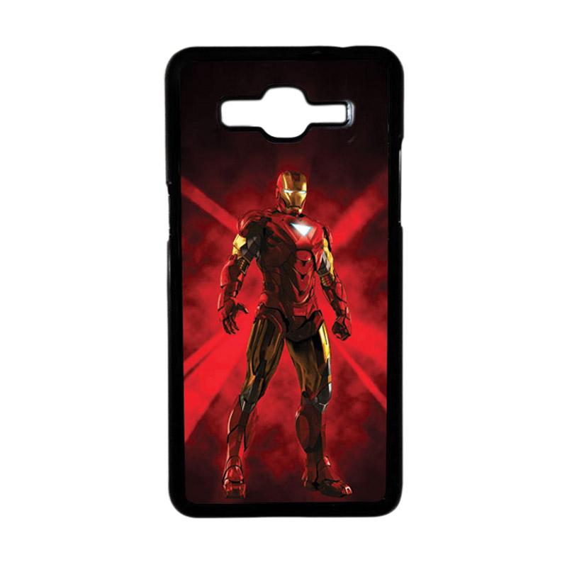 Heavencase Motif Superhero Ironman 07 Hardcase Casing for Samsung Galaxy Grand Prime - Hitam