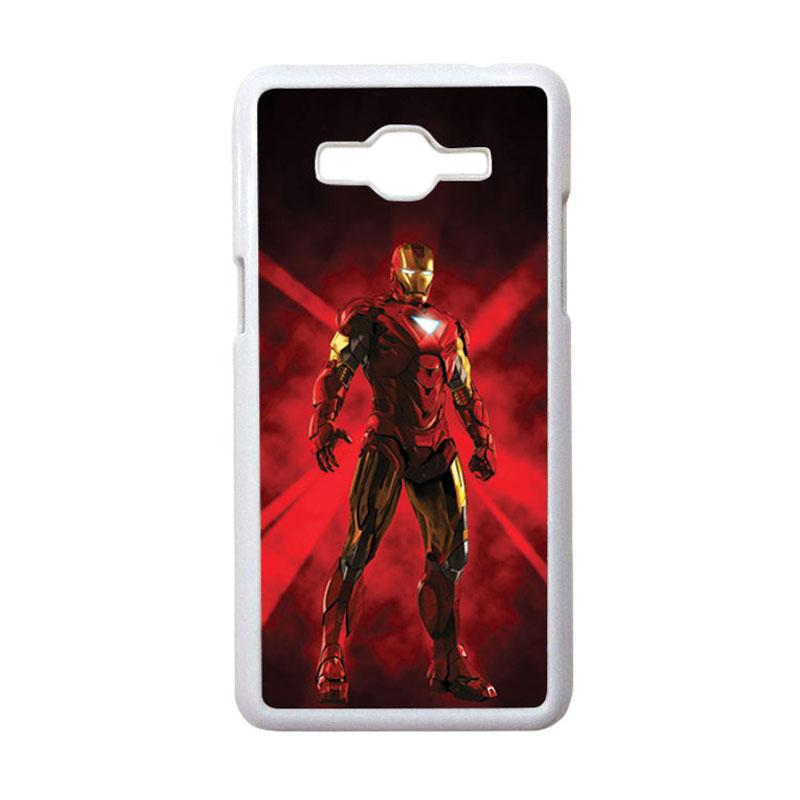 HEAVENCASE Motif Superhero Ironman 08 Casing for Samsung Galaxy Grand Prime - Putih