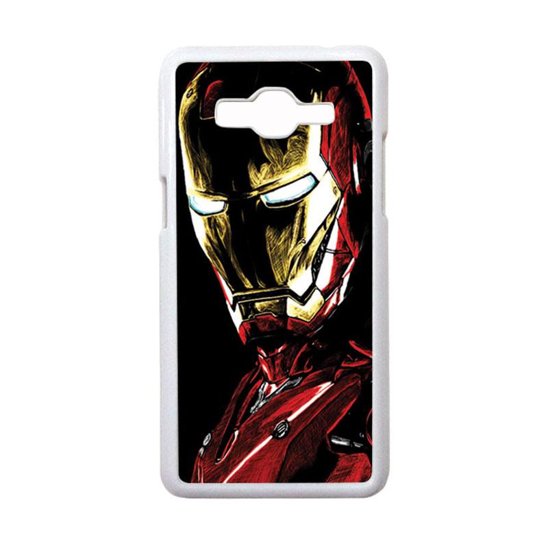 HEAVENCASE Motif Superhero Ironman 09 Casing for Samsung Galaxy Grand Prime - Putih