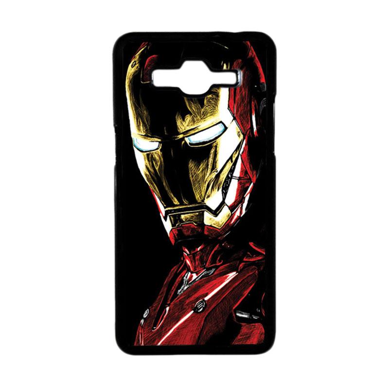 Heavencase Motif Superhero Ironman 09 Hardcase Casing for Samsung Galaxy Grand Prime - Hitam