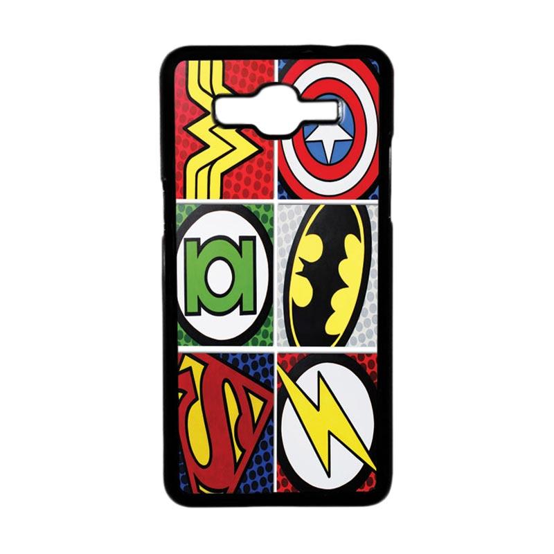 HEAVENCASE Motif Superhero Logo Casing for Samsung Galaxy Grand Prime - Hitam