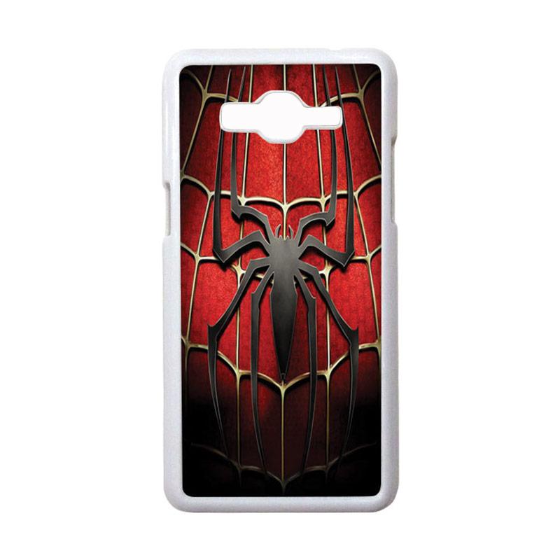 HEAVENCASE Motif Superhero Spiderman 01 Casing for Samsung Galaxy Grand Prime - Putih
