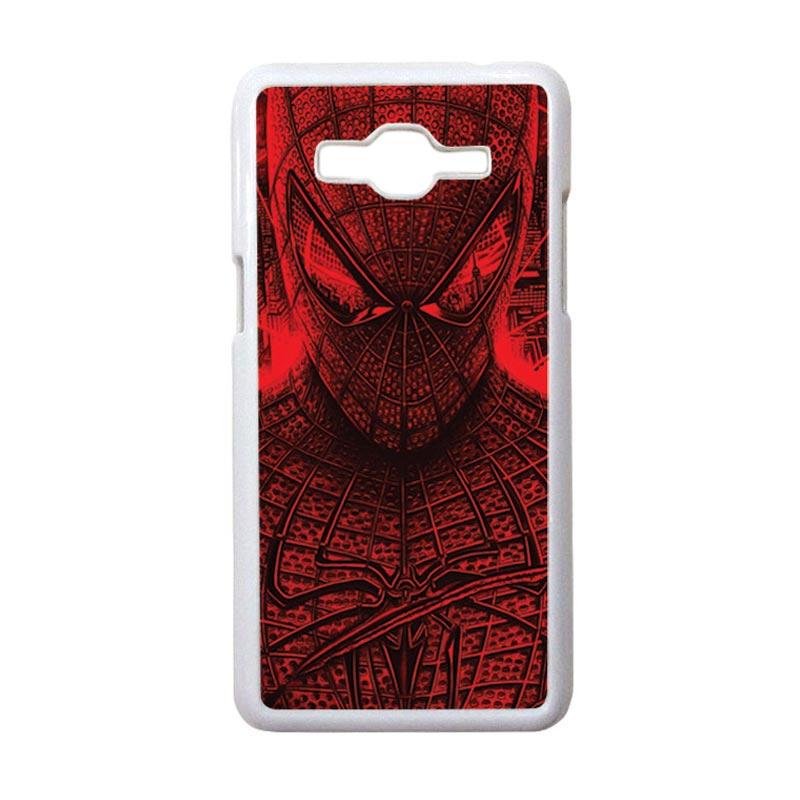HEAVENCASE Motif Superhero Spiderman 03 Casing for Samsung Galaxy Grand Prime - Putih