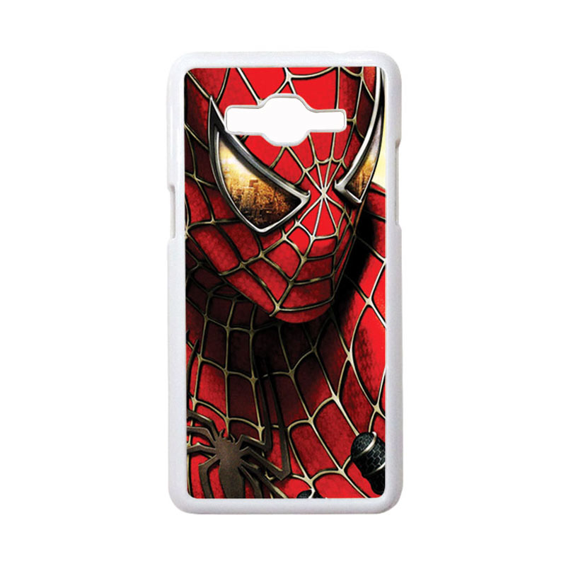 HEAVENCASE Motif Superhero Spiderman 04 Casing for Samsung Galaxy Grand Prime - Putih