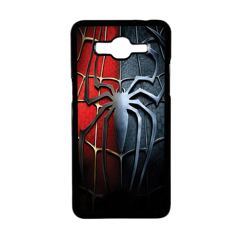 HEAVENCASE Motif Superhero Spiderman 05 Hardcase Casing for Samsung Galaxy Grand Prime - Hitam