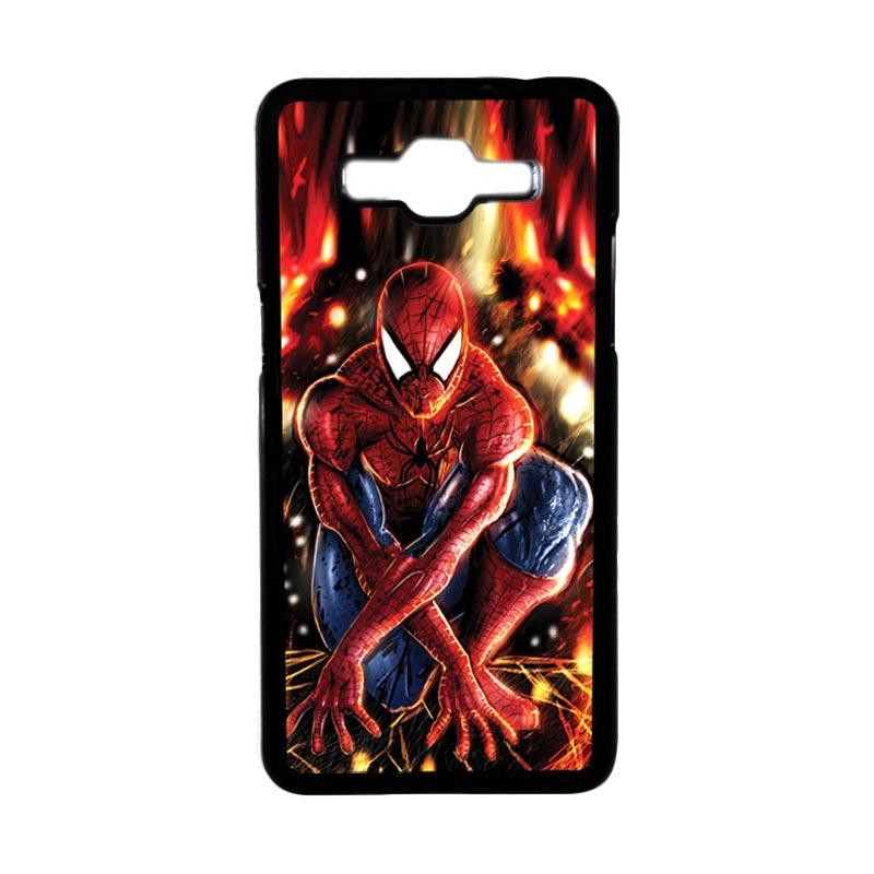 HEAVENCASE Motif Superhero Spiderman 06 Hardcase Casing for Samsung Galaxy Grand Prime - Hitam