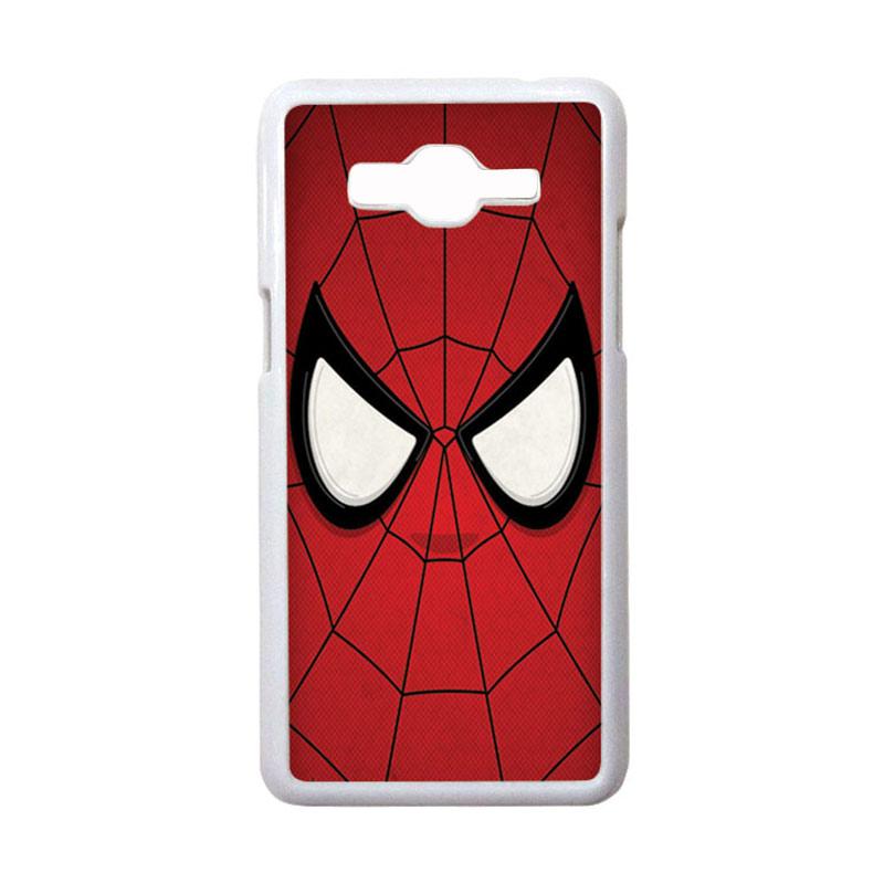 HEAVENCASE Motif Superhero Spiderman 07 Casing for Samsung Galaxy Grand Prime - Putih