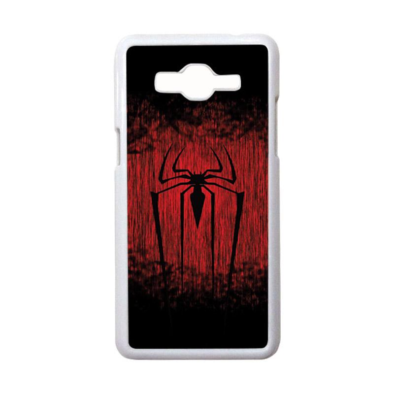 HEAVENCASE Motif Superhero Spiderman 09 Casing for Samsung Galaxy Grand Prime - Putih