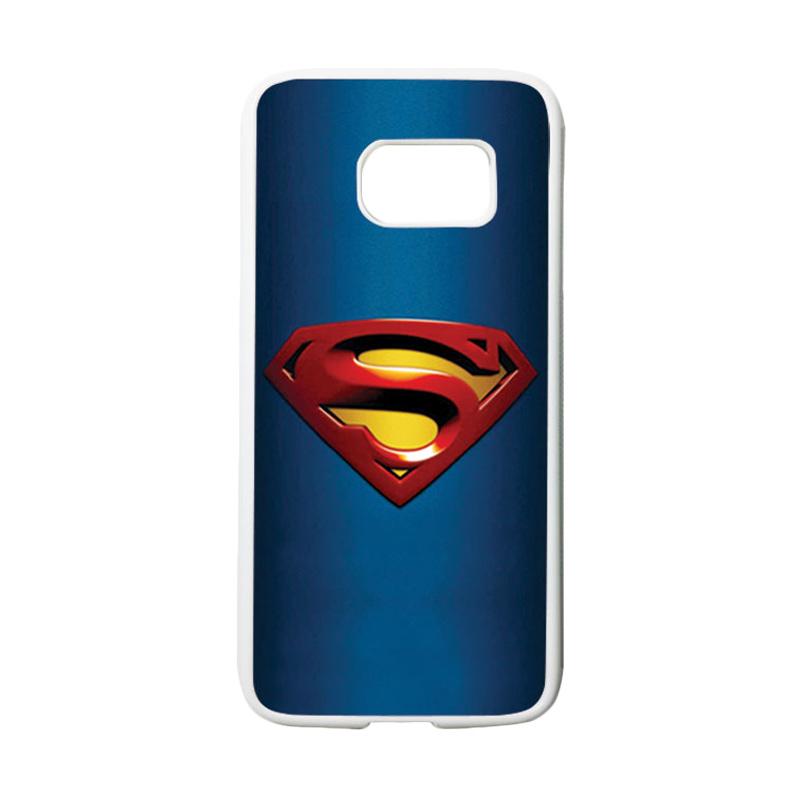 HEAVENCASE Motif Superhero Superman 01 Casing for Samsung Galaxy S7 - Putih