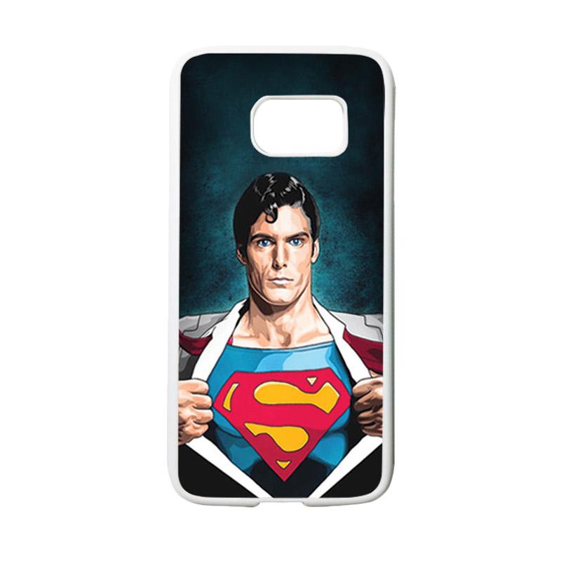 HEAVENCASE Motif Superhero Superman 02 Casing for Samsung Galaxy S7 - Putih