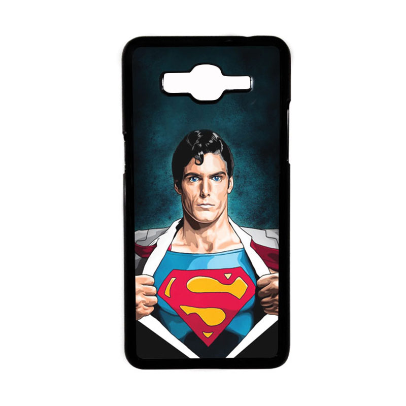 Heavencase Motif Superhero Superman 02 Hardcase Casing for Samsung Galaxy Grand Prime - Hitam
