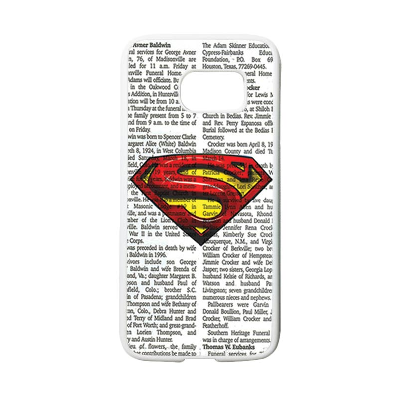 HEAVENCASE Motif Superhero Superman 03 Casing for Samsung Galaxy S7 - Putih