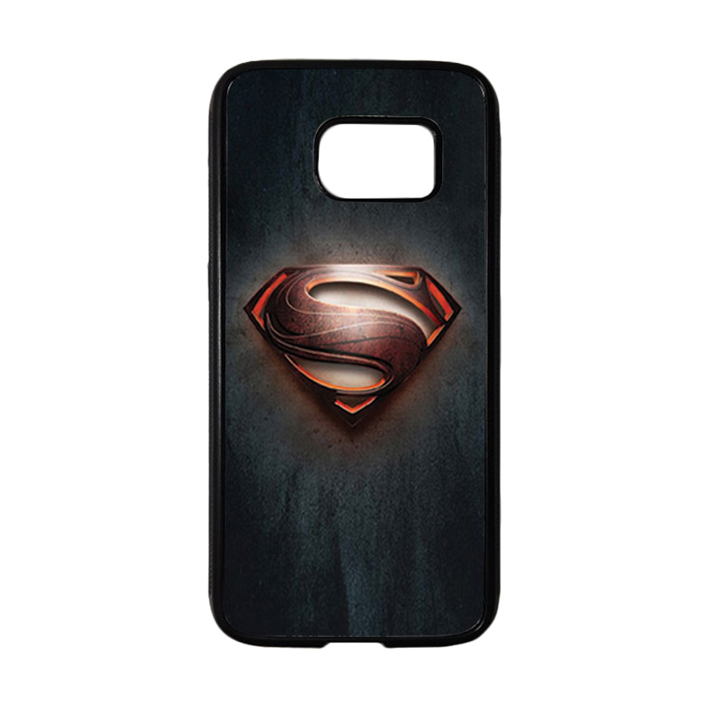 HEAVENCASE Motif Superhero Superman 04 Casing for Samsung Galaxy S7 - Hitam