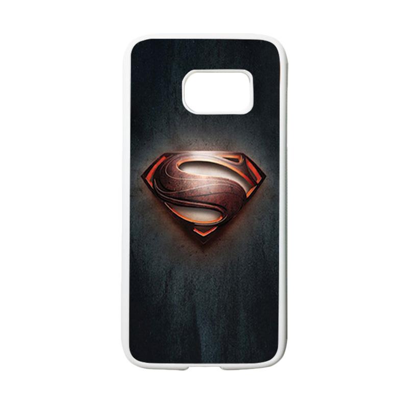HEAVENCASE Motif Superhero Superman 04 Casing for Samsung Galaxy S7 - Putih