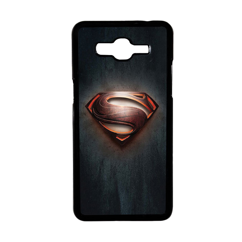 HEAVENCASE Motif Superhero Superman 04 Hardcase Casing for Samsung Galaxy Grand Prime - Hitam
