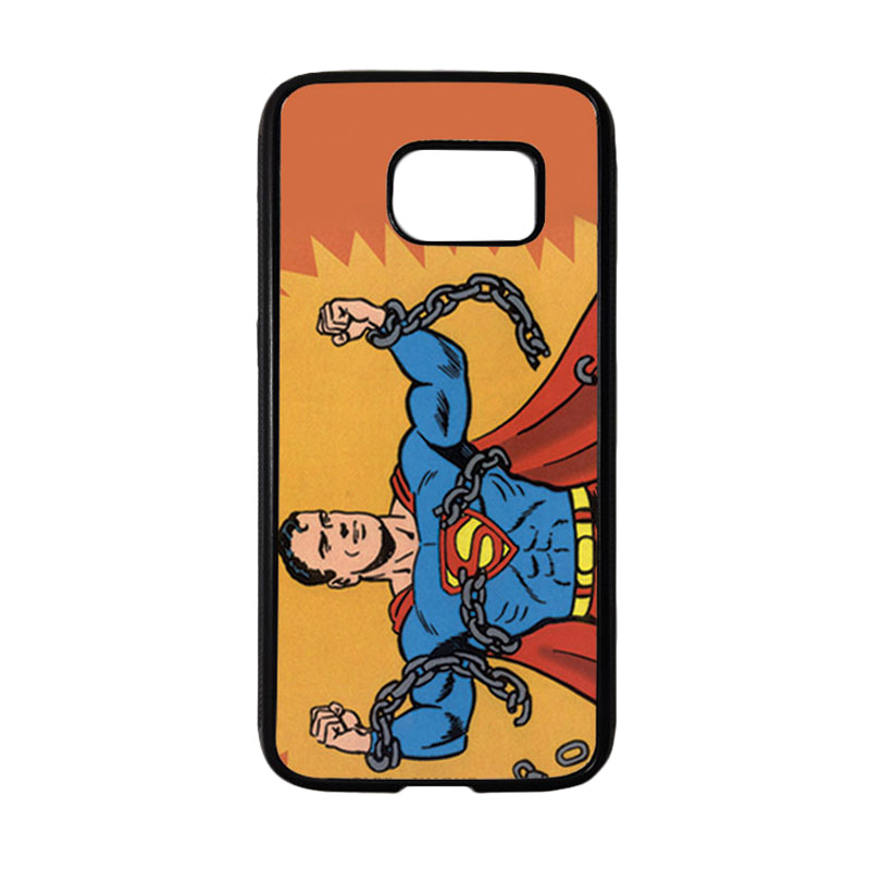 HEAVENCASE Motif Superhero Superman 05 Casing for Samsung Galaxy S7 - Hitam