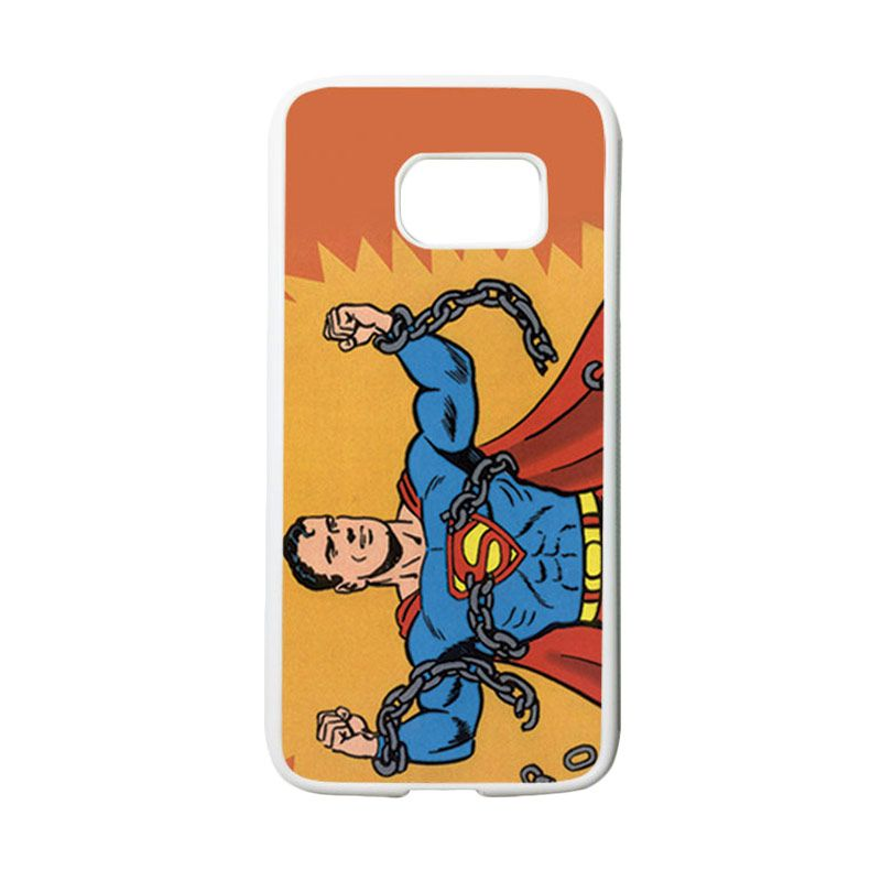 HEAVENCASE Motif Superhero Superman 05 Casing for Samsung Galaxy S7 - Putih