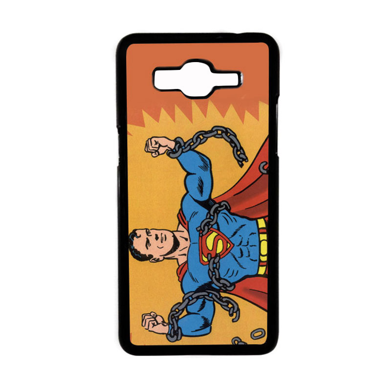 Heavencase Motif Superhero Superman 05 Hardcase Casing for Samsung Galaxy Grand Prime - Hitam