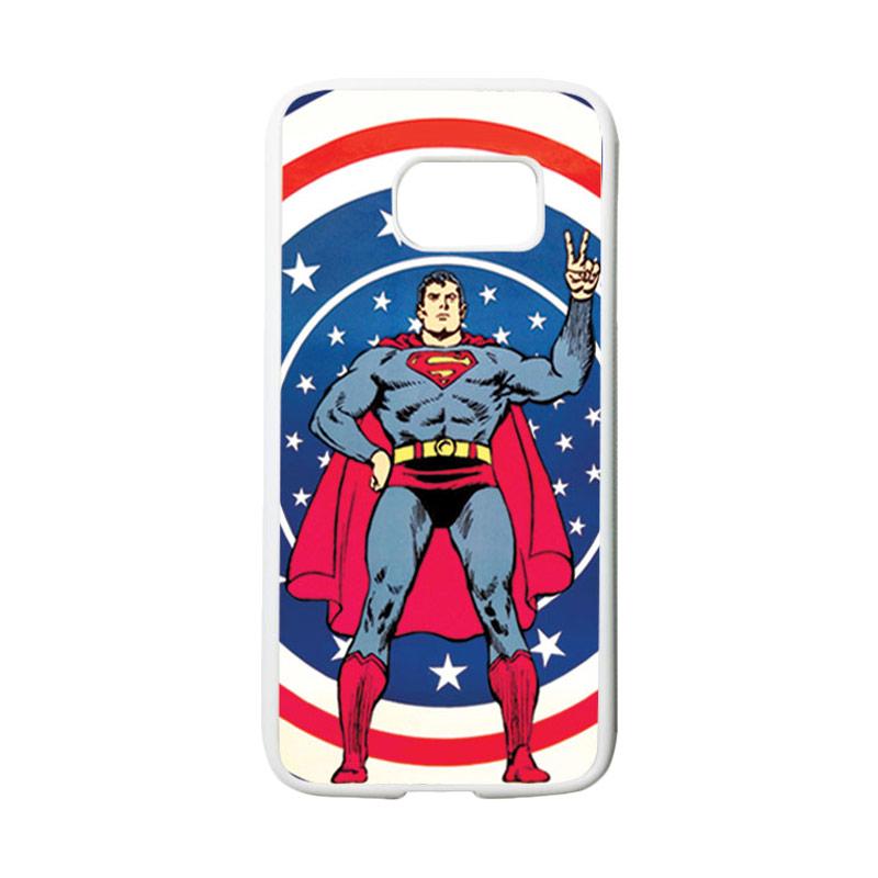 HEAVENCASE Motif Superhero Superman 06 Casing for Samsung Galaxy S7 - Putih