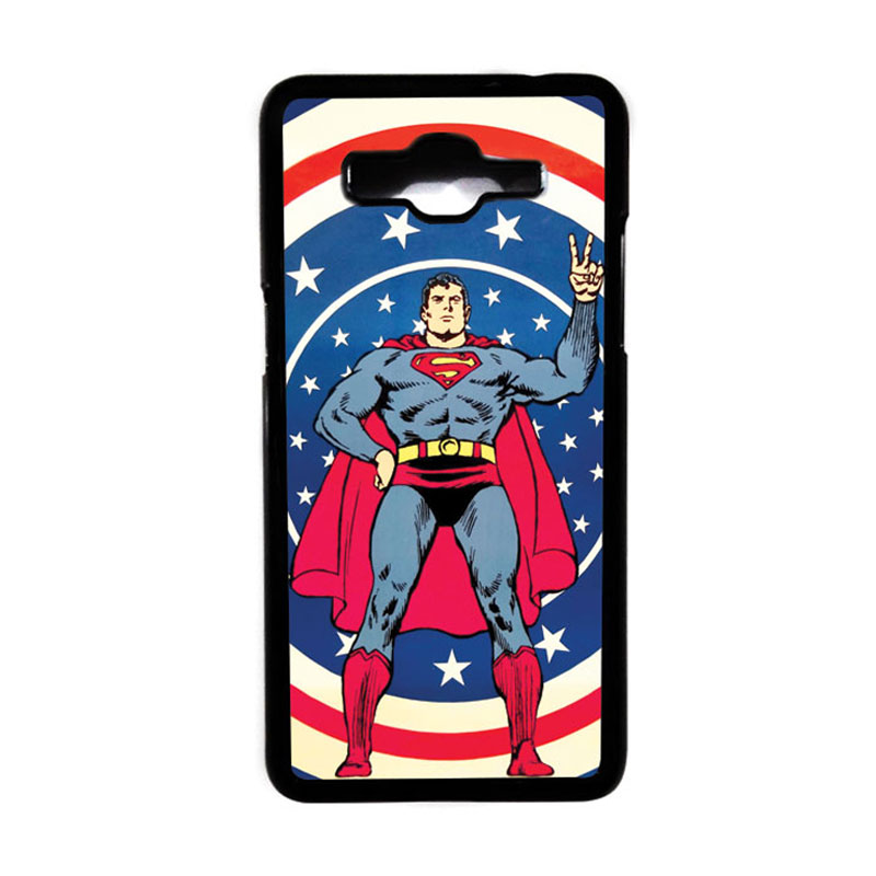 Heavencase Motif Superhero Superman 06 Hardcase Casing for Samsung Galaxy Grand Prime - Hitam