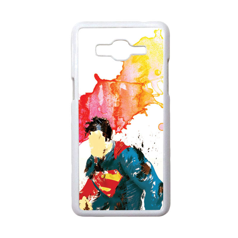 HEAVENCASE Motif Superhero Superman 07 Casing for Samsung Galaxy Grand Prime - Putih