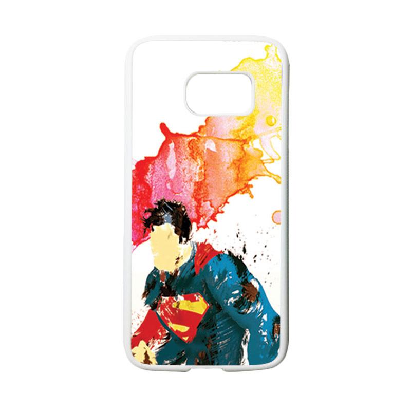 HEAVENCASE Motif Superhero Superman 07 Casing for Samsung Galaxy S7 - Putih