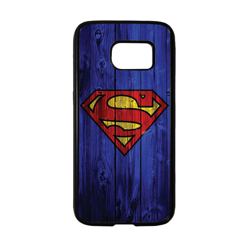 HEAVENCASE Motif Superhero Superman 08 Casing for Samsung Galaxy S7 - Hitam