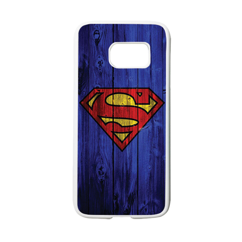 HEAVENCASE Motif Superhero Superman 08 Casing for Samsung Galaxy S7 - Putih