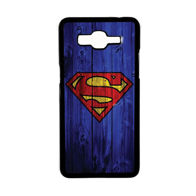 HEAVENCASE Motif Superhero Superman 08 Hardcase Casing for Samsung Galaxy Grand Prime - Hitam