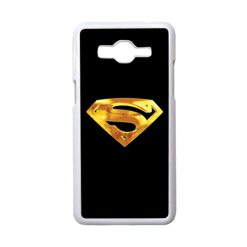 HEAVENCASE Motif Superhero Superman 09 Casing for Samsung Galaxy Grand Prime - Putih