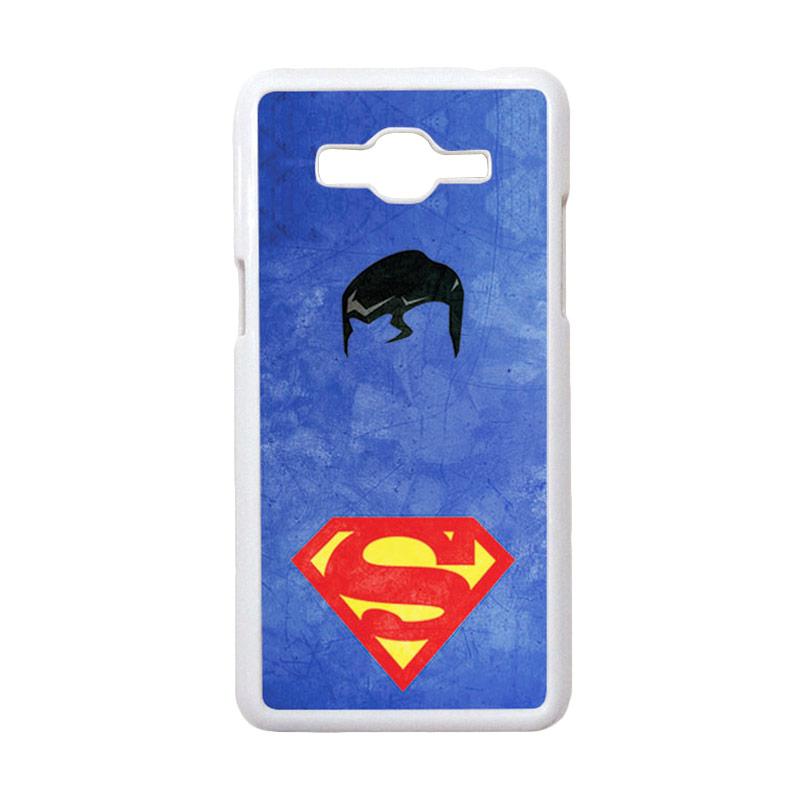 HEAVENCASE Motif Superhero Superman 10 Casing for Samsung Galaxy Grand Prime - Putih
