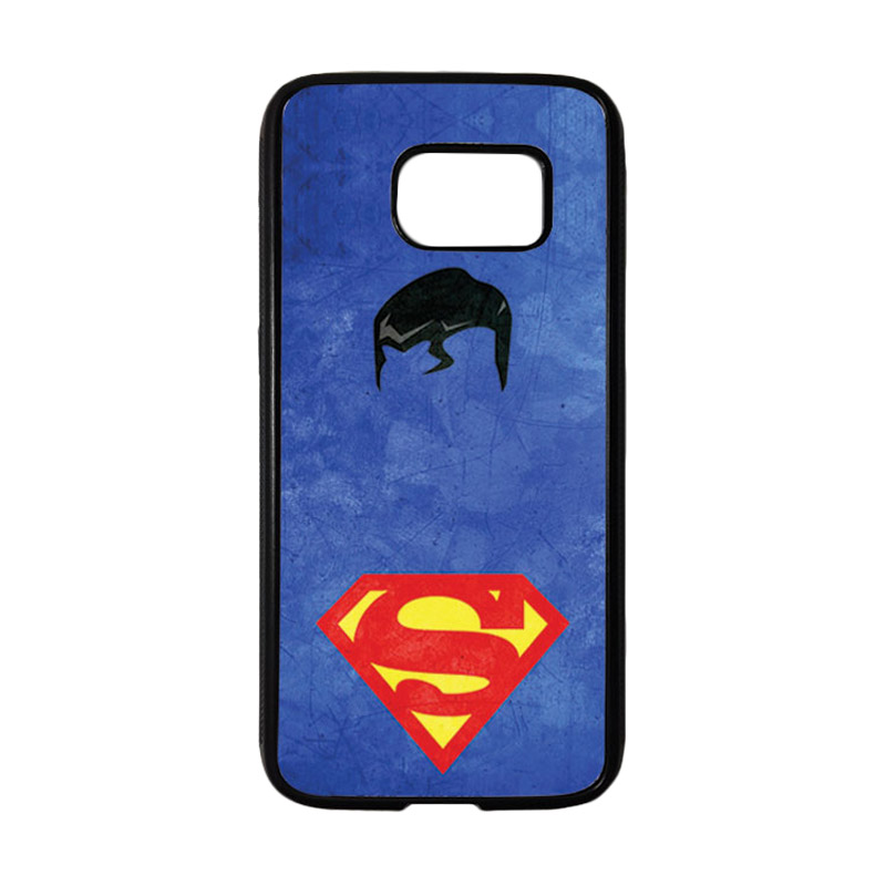 HEAVENCASE Motif Superhero Superman 10 Casing for Samsung Galaxy S7 - Hitam